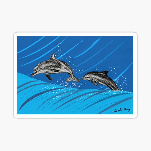 Dolphins Jumping out of the Sea Sticker