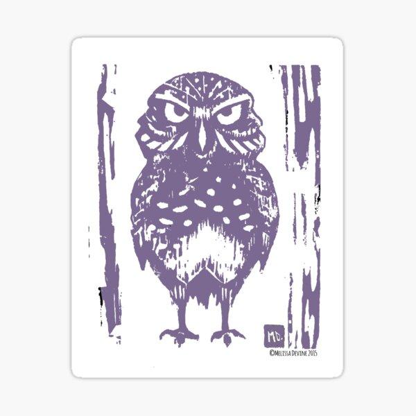 Burrowing Owl by Melissa Devine Sticker