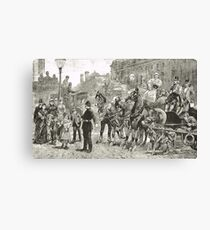 Victorian Style Congestion in London Canvas Print