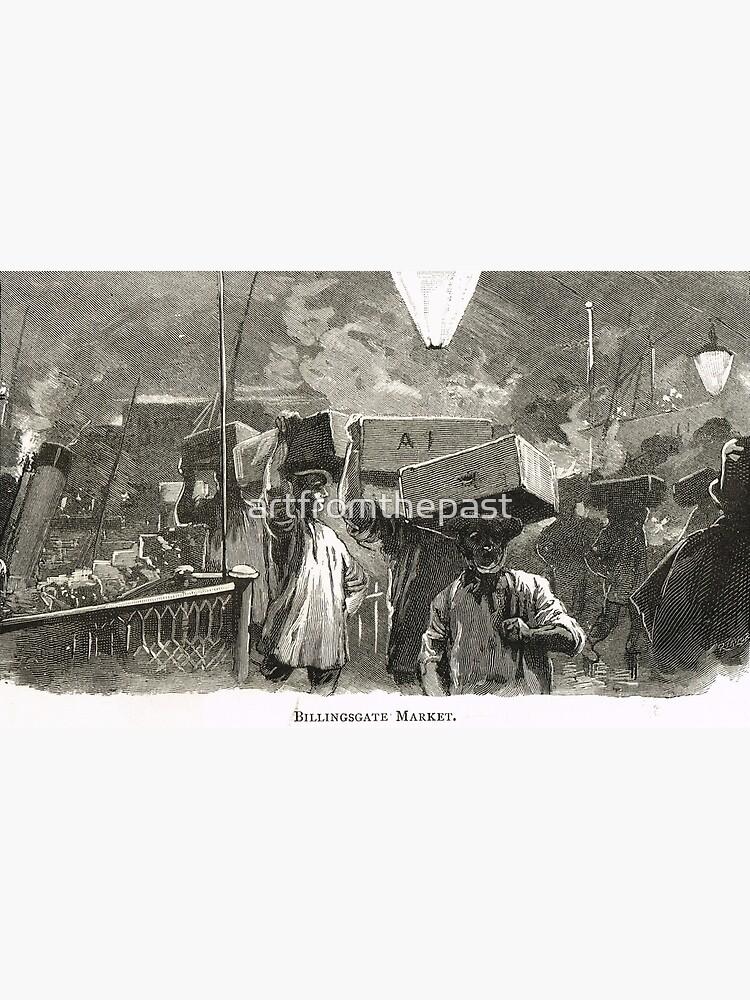 Mercado de pescado de Billingsgate, Londres, Inglaterra en el siglo XIX de artfromthepast