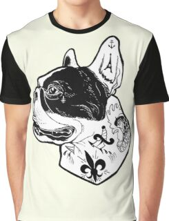 Tattooed French Bulldog Graphic T-Shirt