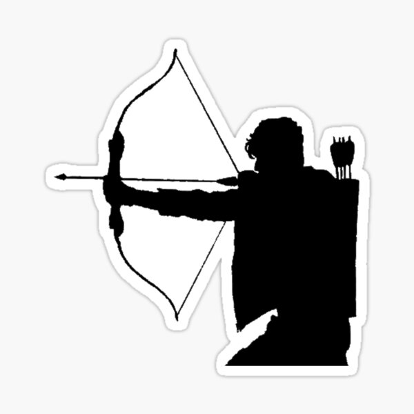Alec Lightwood shilouette Sticker