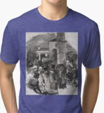 Covent Garden Market, London, England in the 19th Century Tri-blend T-Shirt