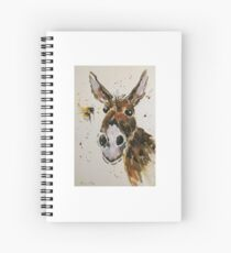 Funny Donkey and Bumble bee Spiral Notebook
