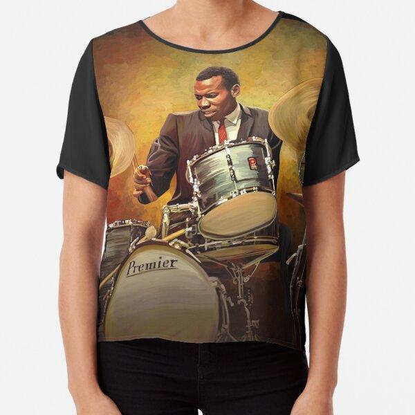 Honoring Elvin Jones: Great Jazz Drummer Chiffon Top