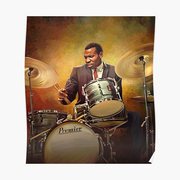 Honoring Elvin Jones: Great Jazz Drummer Poster