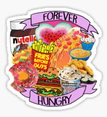 Forever Hungry Collage Sticker