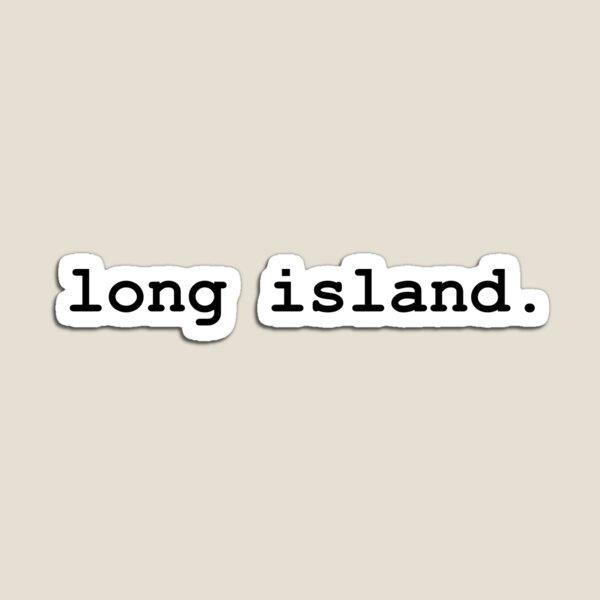Long Island | Black Typewriter Magnet