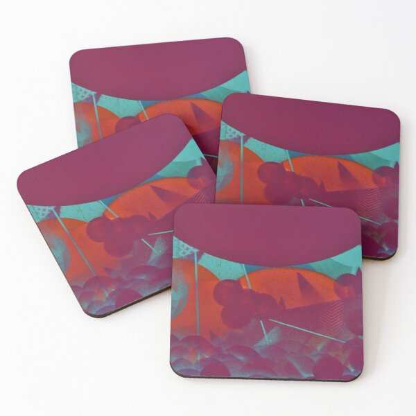 Electric Storm Coasters (Set of 4)
