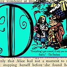 Alice in Wonderland and Through the Looking Glass Alphabet D by Samitha Hess Edwards