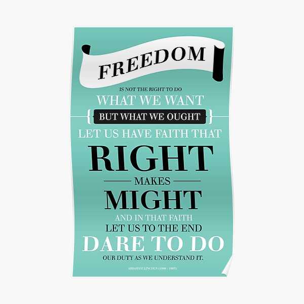 Freedom - Teal Poster