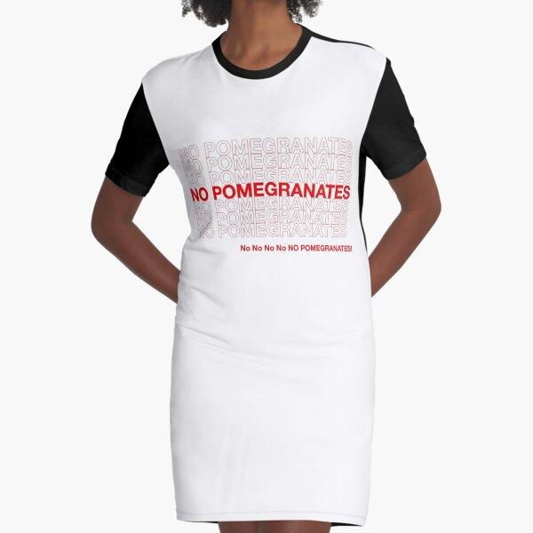 NO POMEGRANATES Graphic T-Shirt Dress