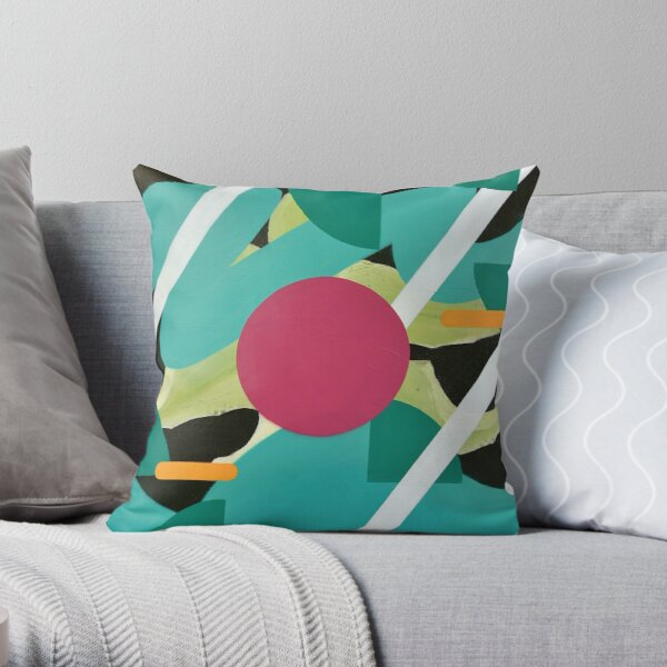 The Elegance of Floral Energy Throw Pillow