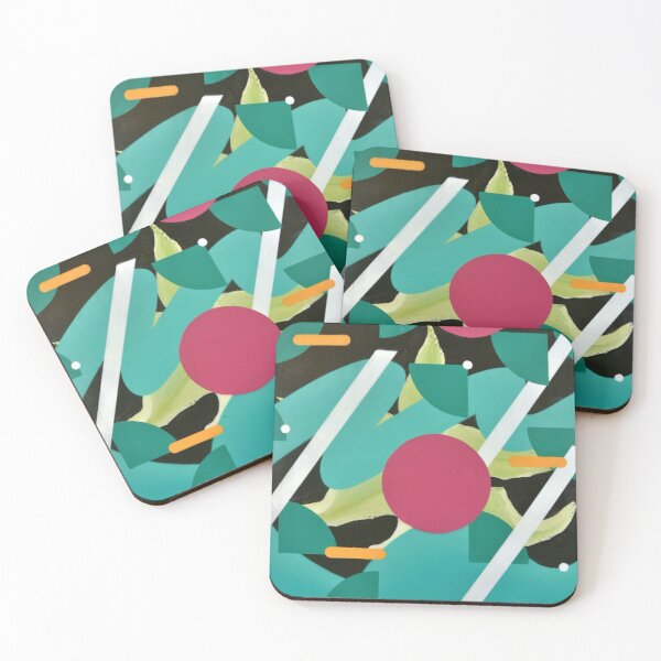 The Elegance of Floral Energy Coasters (Set of 4)