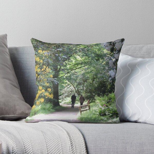 Springtime at Stourhead Throw Pillow
