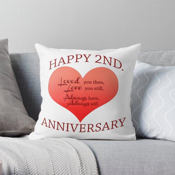 2nd. Anniversary Throw Pillow