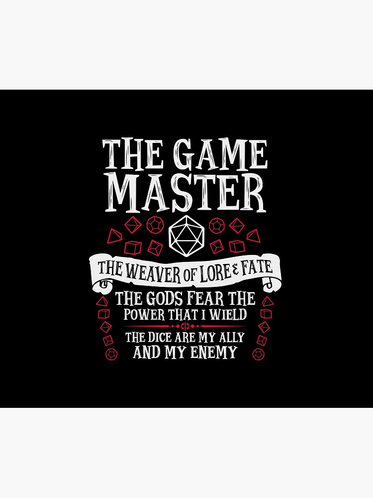 THE GAME MASTER, The Weaver of Lore & Fate - Dungeons & Dragons (White Text) by enduratrum
