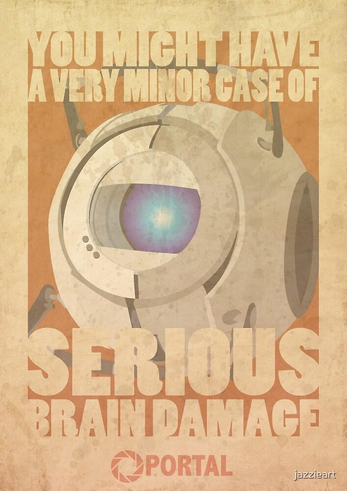 Portal Propaganda Poster - Wheatley by jazzieart
