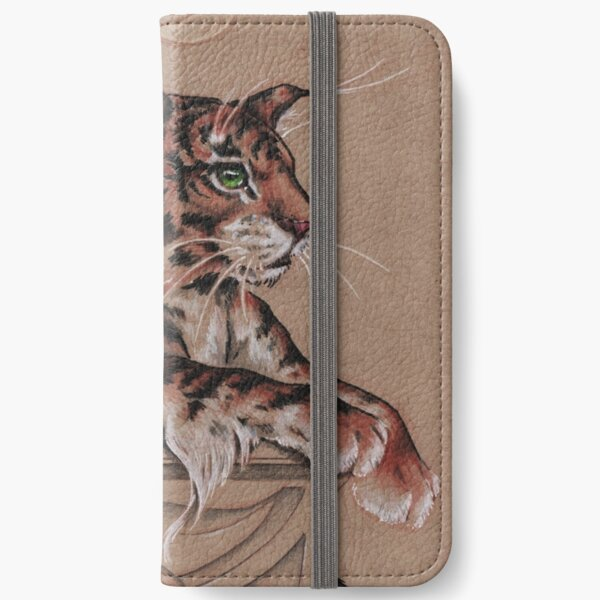 Fairy Tiger - all about the ear tufts iPhone Wallet