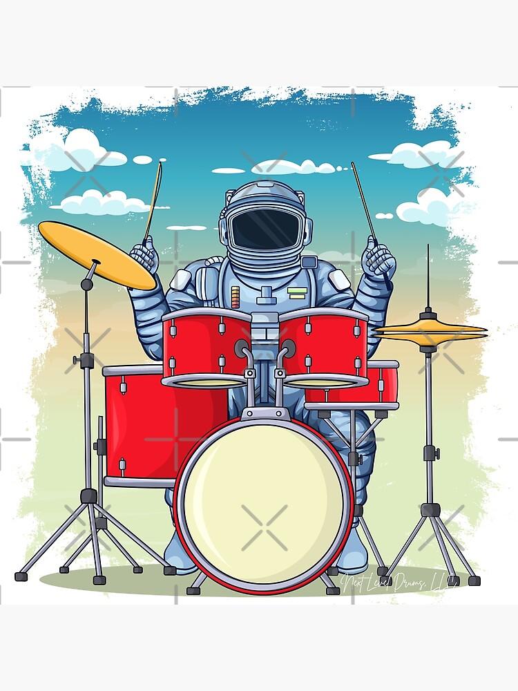 Astronaut Drummer by Nextleveldrums1