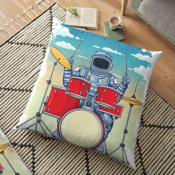 Astronaut Drummer Floor Pillow