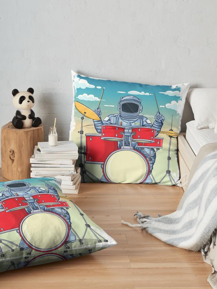Alternate view of Astronaut Drummer Floor Pillow
