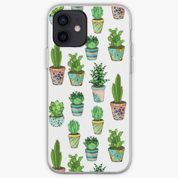 Green cactus iPhone Soft Case