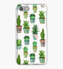Green cactus iPhone Case/Skin