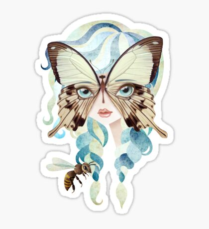 Niella Butterfly Girl Sticker