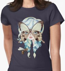 Niella Butterfly Girl Women's Fitted T-Shirt