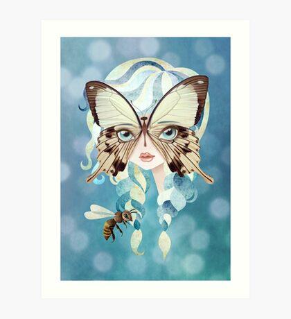 Niella Butterfly Girl Art Print