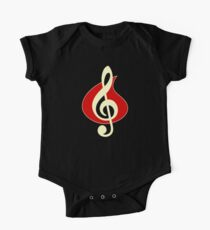 Vintage Music Note One Piece - Short Sleeve