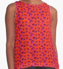 Bright Bold Abstract Patterned Contrasting Color Mix Contrast Tank
