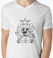 queen crown female princess queen woman scepter sitting Teddy comic cartoon sweet cute T-Shirt