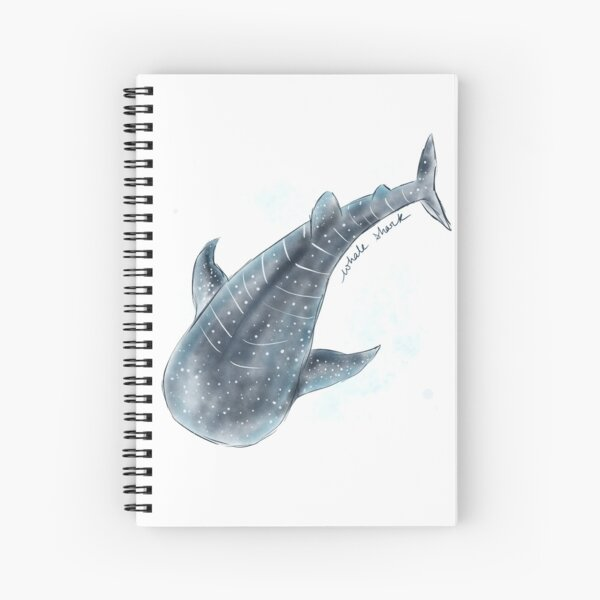 Whale Shark Watercolor Spiral Notebook