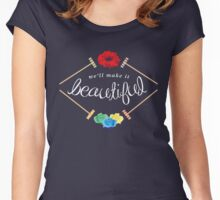 Make It Beautiful — Heathers: the Musical Women's Fitted Scoop T-Shirt