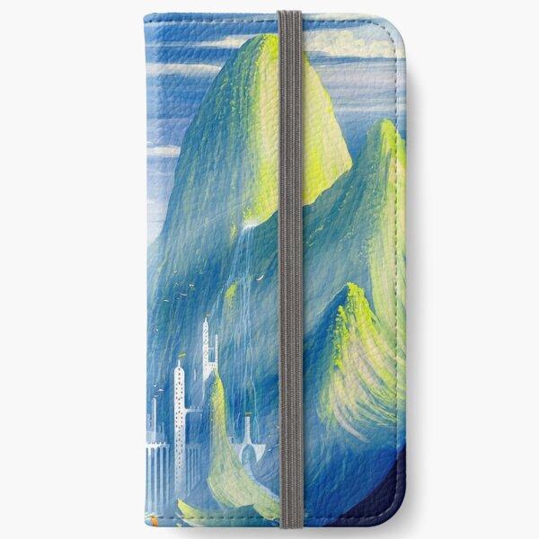 Castillo y lago Fundas tarjetero para iPhone