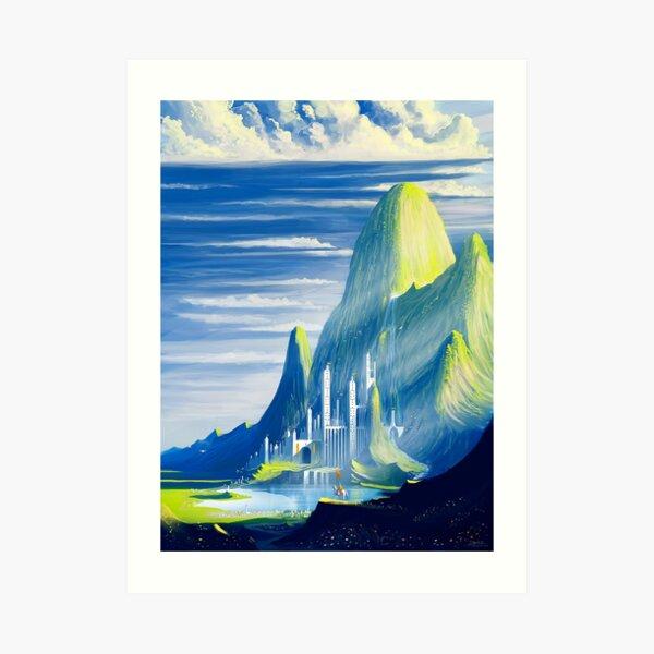 Castle and lake Art Print