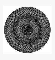 """Icosahedron"" Photographic Print"