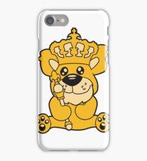 king crown old opa scepter sitting Teddy comic cartoon sweet cute iPhone Case/Skin