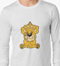 king crown old opa scepter sitting Teddy comic cartoon sweet cute T-Shirt