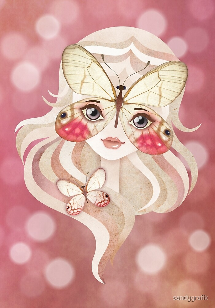Merolina Moth Girl by sandygrafik