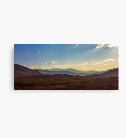 Torridon light and layers Canvas Print