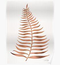 Palm Leaf – Rose Gold Poster