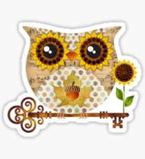 Owl's Autumn Song Sticker