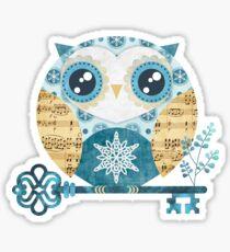 Winter Wonderland Owl Sticker