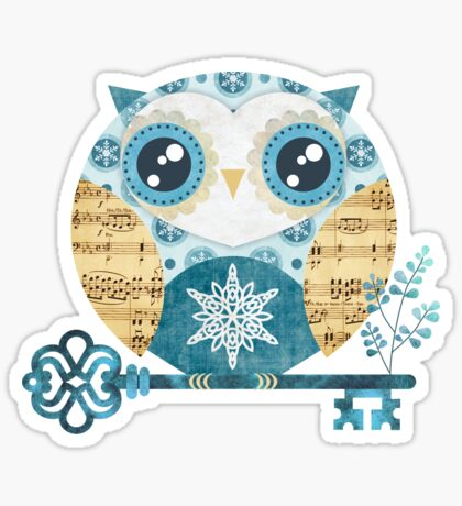 Winter Wonderland Owl Sticker