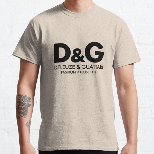 Deleuze - Guattari - Philosophie de la mode - Noir T-shirt classique