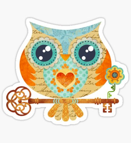 Owl's Summer Love Letters Sticker