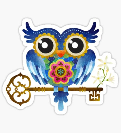 Spring Guardian Owl Sticker